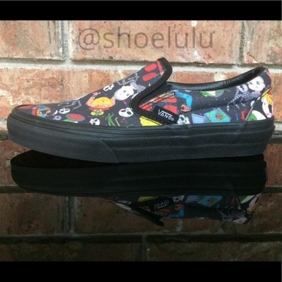 394bf0e7 Vans Toy Story Slip-On Women Sz 5.5 Black Sid's NWT